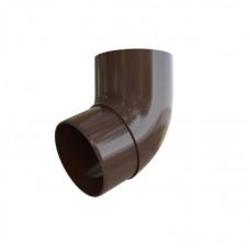 Колено трубы 67° ПВХ Альта-Профиль Элит коричневый