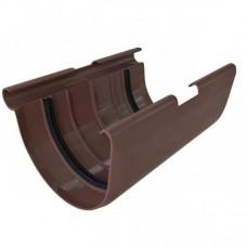 Муфта желоба ПВХ Альта-Профиль Элит коричневый