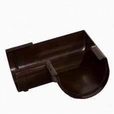 Угол желоба 90° ПВХ Альта-Профиль Элит коричневый