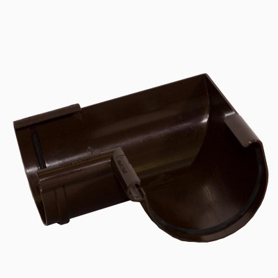 Альта-Профиль Угол желоба 90° ПВХ Элит коричневый