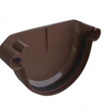 Заглушка желоба ПВХ Альта-Профиль Элит коричневый