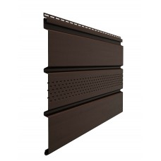 Софит Docke Standart Шоколад с центральной вентиляцией RAL8019
