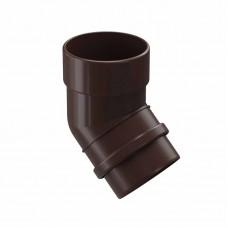 Колено водосточной трубы 45гр ПВХ Docke LUX D-141/100 шоколад