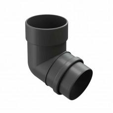 Колено водосточной трубы 72гр ПВХ Docke LUX D-141/100 графит