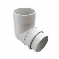 Колено водосточной трубы 72гр ПВХ Docke LUX D-141/100 пломбир