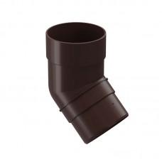 Колено трубы 45° Docke Premium D-120 85 Шоколад