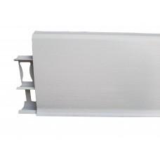 Напольный плинтус Идеал Деконика 70 мм 001 Белый Матовый
