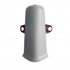 Угол наружный плюс Краб плинтуса Идеал Деконика Белый Матовый 70 мм