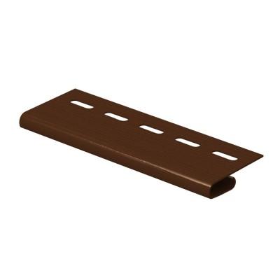 Завершающая планка Ю-Пласт коричневая