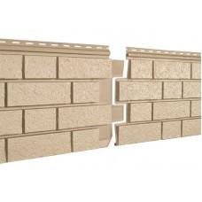 Фасадные панели Ю-пласт Стоун Хаус S-Lock Клинкер Песочный