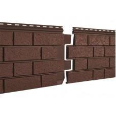 Фасадные панели Ю-пласт Стоун Хаус S-Lock Клинкер Терракотовый