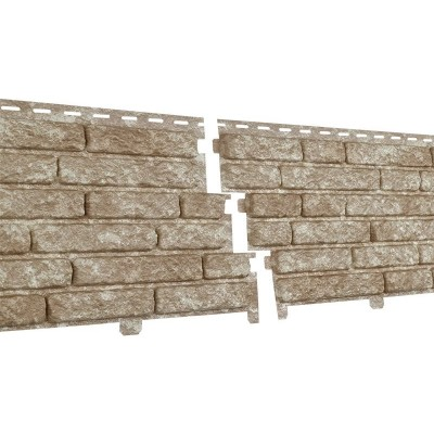 Фасадная панель Ю-пласт Стоун Хаус Кварцит Светло-Бежевый
