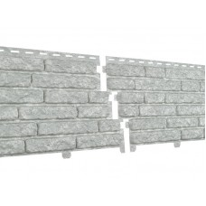 Фасадные панели Ю-пласт Стоун Хаус Кварцит Светло-Серый