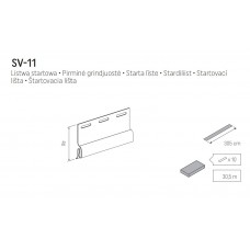 Начальная планка VOX SV-11 3050 мм